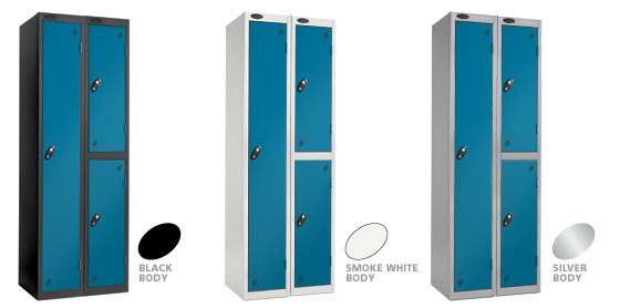 BlueRed Locker Doors with Black, Silver or Smoke White Carcase colour options.