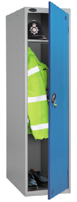 Police locker with extra depth 550mm